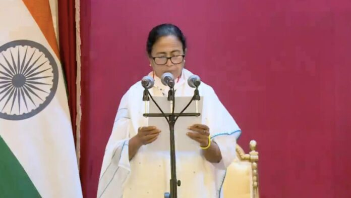 Mamata Banerjee has been sworn in as Chief Minister for the third time