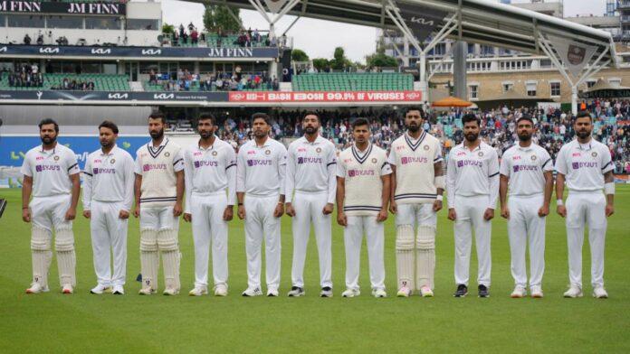 ওভালে চতুর্থ টেস্টে কালো আর্ম ব্যান্ড পরে খেলতে নেমেছে ভারতীয় দল! কিন্তু কেন? / Image Source: Twitter @BCCI